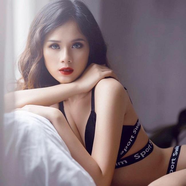 """Mặc áo tắm, bạn gái Văn Toàn, Văn Thanh, Duy Mạnh """"hot"""" 100% - hình ảnh 11"""