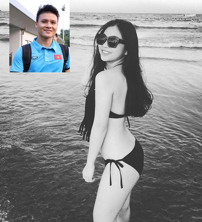 """Mặc áo tắm, bạn gái Văn Toàn, Văn Thanh, Duy Mạnh """"hot"""" 100% - hình ảnh 15"""