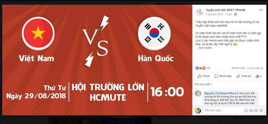 Trường ĐH yêu cầu sinh viên ăn mặc lịch sự, không quá khích khi xem Olympic Việt Nam - Hàn Quốc - 2