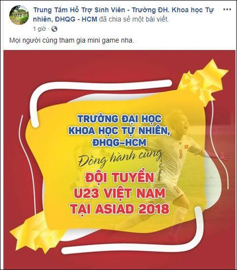 Trường ĐH yêu cầu sinh viên ăn mặc lịch sự, không quá khích khi xem Olympic Việt Nam - Hàn Quốc - 1