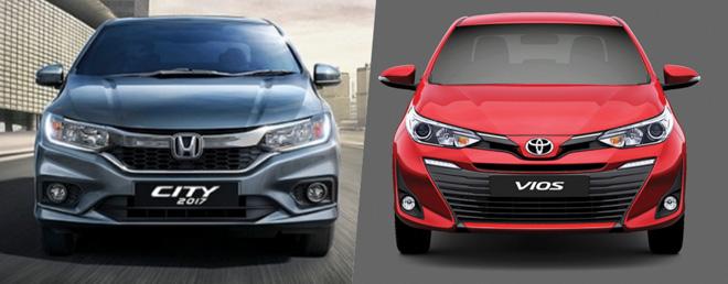 So sánh Toyota Vios 2018 và Honda City 2018 - 1