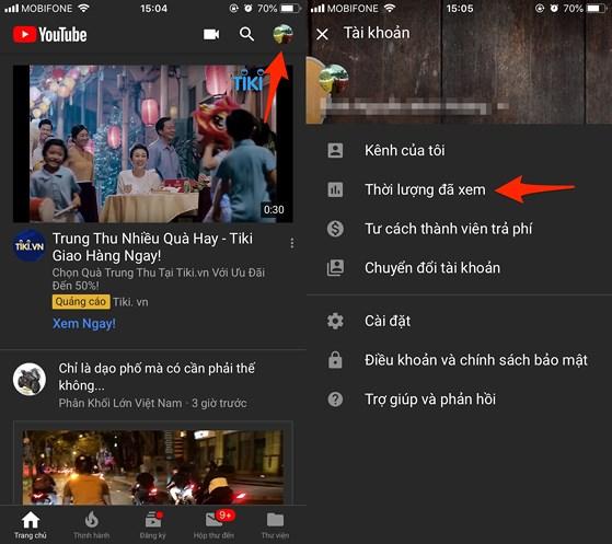 Làm thế nào để xem thời gian sử dụng YouTube? - 1