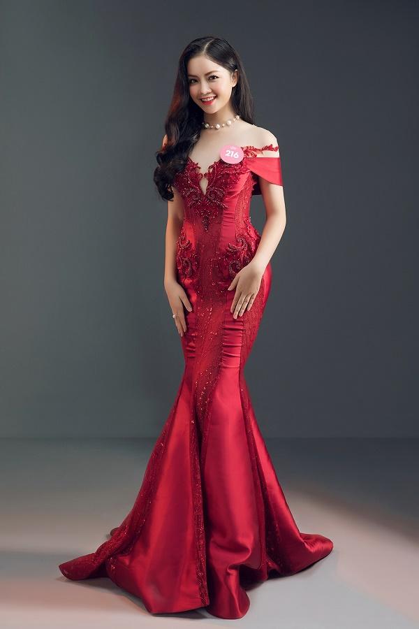 Thí sinh Hoa hậu Việt Nam 2018 tung ảnh dạ hội cực gợi cảm - hình ảnh 5