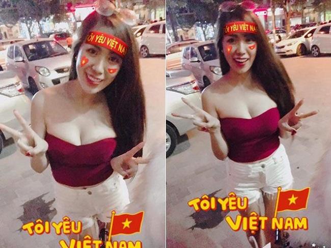 Nữ cổ động viên bóng đá Việt Nam mặc táo bạo chẳng kém ai ở châu Á - hình ảnh 5