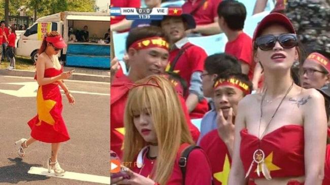 Nữ cổ động viên bóng đá Việt Nam mặc táo bạo chẳng kém ai ở châu Á - hình ảnh 11