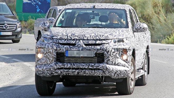 Mitsubishi Triton 2019 lộ hình ảnh chạy thử - 1