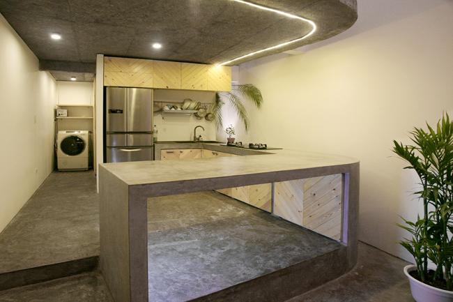 Khu vực bếp ăn đơn giản.
