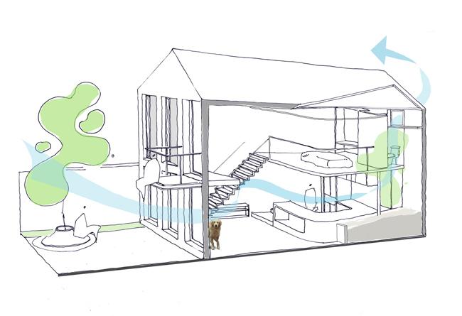 Bản vẽ cấu trúc căn nhà.