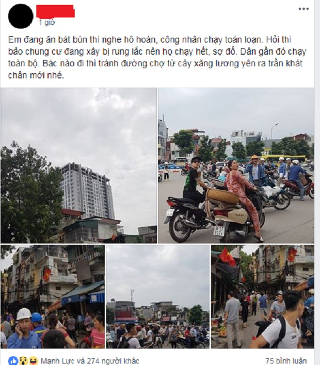 Nhiều Chung Cư Tại Hà Nội Rung Lắc, Người Dân Lo Sợ Động Đất 2