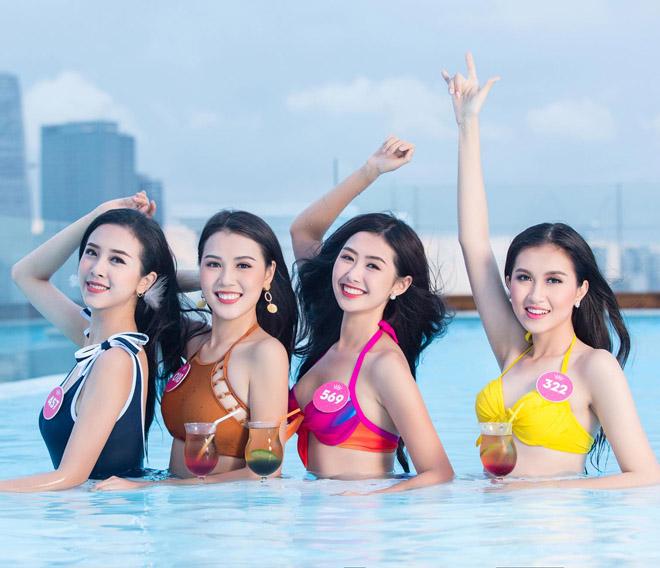 Top 43 Hoa hậu VN khoe dáng với áo tắm trước chung kết - 13