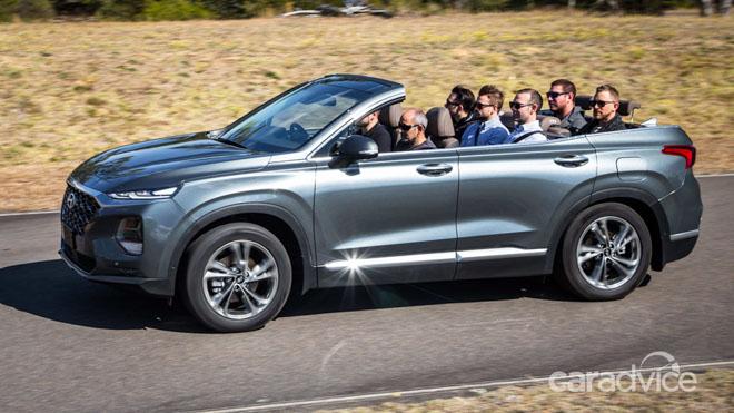 Hyundai SantaFe 2019 mui trần lộ ảnh chạy thử tại Úc - 3