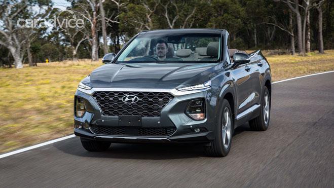 Hyundai SantaFe 2019 mui trần lộ ảnh chạy thử tại Úc - 1