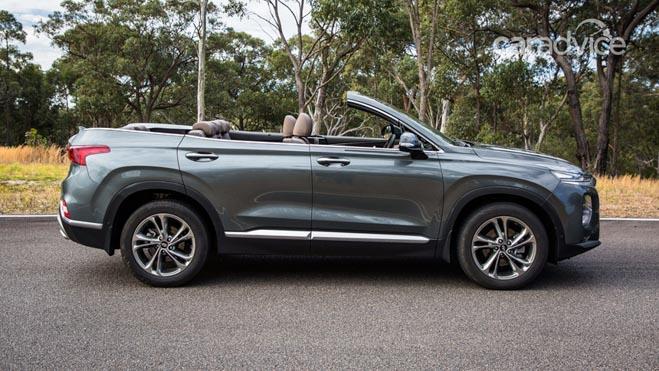 Hyundai SantaFe 2019 mui trần lộ ảnh chạy thử tại Úc - 2