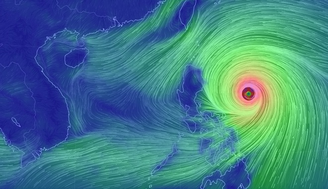 Siêu bão MANGKHUT mạnh cấp 17 tăng tốc vào Biển Đông, biển động dữ dội - 1