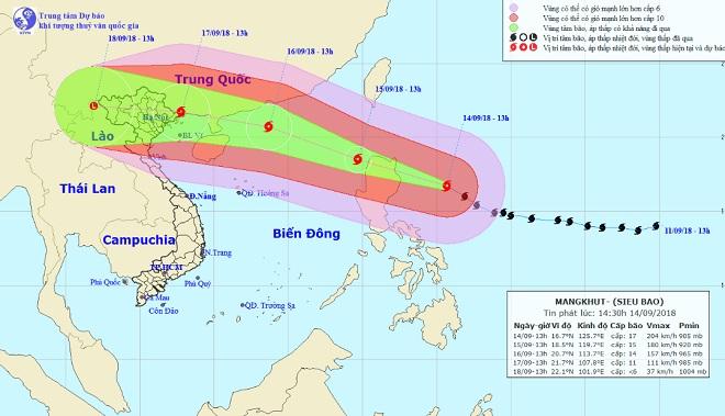 Siêu bão MANGKHUT bán kính ảnh hưởng cực rộng, 27 tỉnh căng mình ứng phó - 2