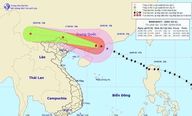 Bão MANGKHUT giật cấp 15 hoành hành Trung Quốc, miền Bắc mưa to từ ngày mai - 1