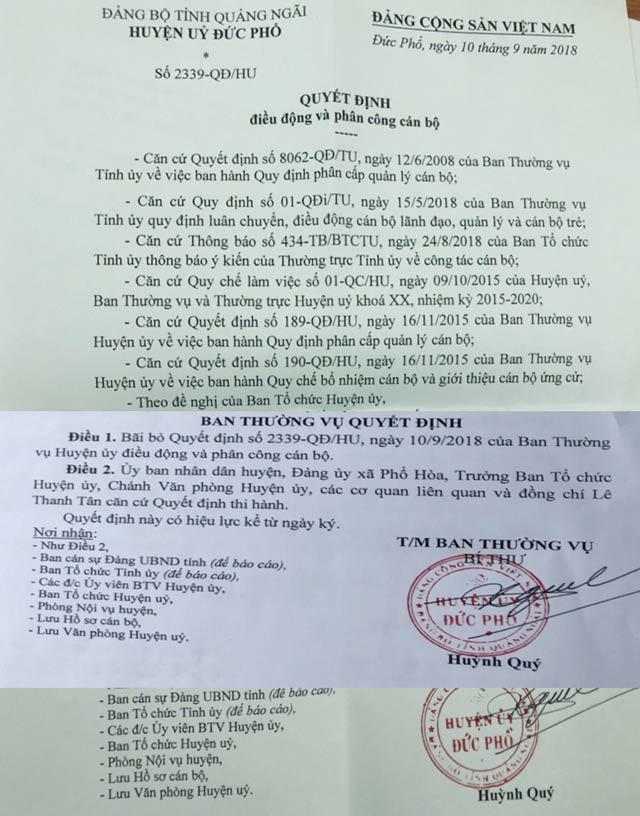 Tỉnh ủy Quảng Ngãi nói về vụ PCT huyện làm Bí thư xã trong 48h - 2