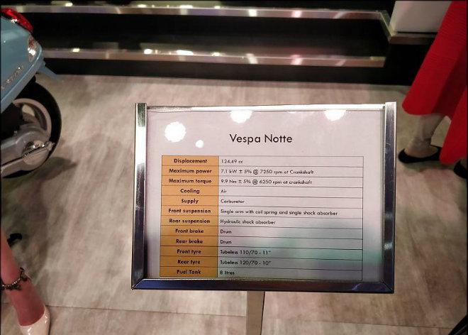"""Vespa Notte 125 lên kệ, giá 22 triệu đồng, Janus và Vision """"giật mình"""" - 7"""