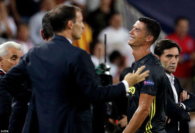 Ronaldo nhận thẻ đỏ cúp C1: Có bị treo giò 2 trận gặp MU – Mourinho? - 2