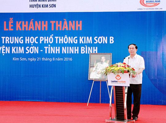 Những hình ảnh đẹp, gần gũi của Chủ tịch nước Trần Đại Quang với mái trường xưa - 4