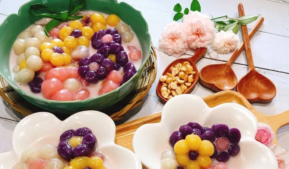 Cách làm chè khoai dẻo hình bông hoa nhiều màu sắc - 7