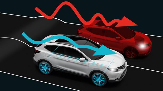 Hệ thống kiểm soát khung gầm chủ động trên Nissan X-trail V-series: Lái nhẹ nhàng, ngồi thoải mái - 3