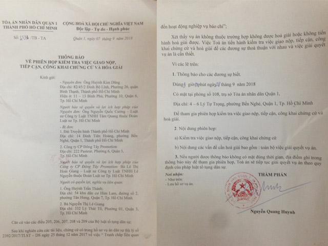 Tòa án mời Trấn Thành, Lê Giang lên hòa giải lần cuối vụ Duy Phương - 1
