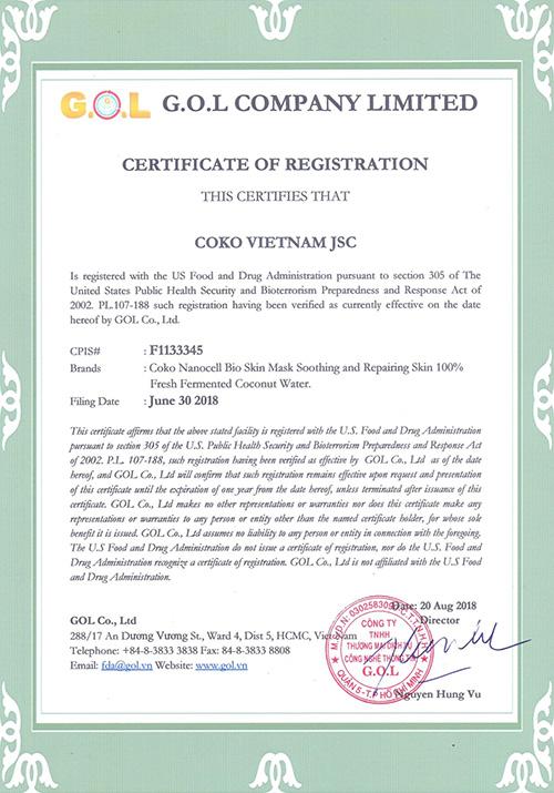 Thương hiệu mỹ phẩm Việt đầu tiên được FDA Hoa Kỳ chứng nhận nổi như cồn tại Mỹ - Mỹ phẩm sinh học Coko - 1