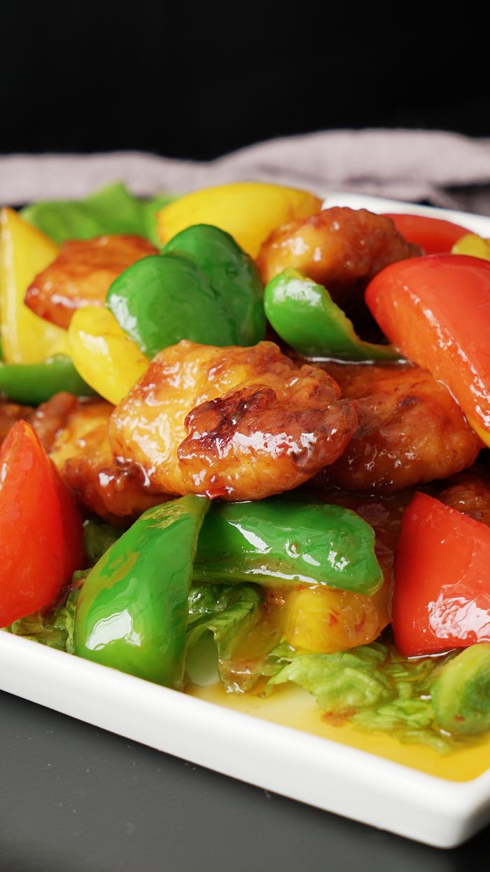 """""""Lịm tim"""" với món gà rán xào với ớt chuông sốt chua ngọt - 2"""