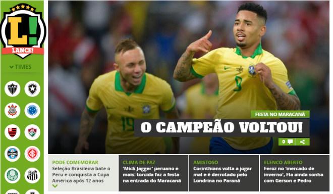 Brazil vô địch Copa America: Báo chí thế giới ngả mũ kỳ tích không cần Neymar - 1