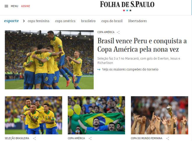 Brazil vô địch Copa America: Báo chí thế giới ngả mũ kỳ tích không cần Neymar - 3