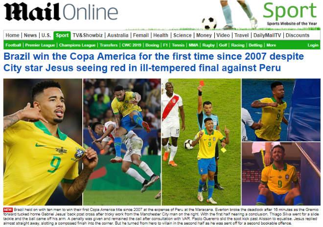 Brazil vô địch Copa America: Báo chí thế giới ngả mũ kỳ tích không cần Neymar - 6