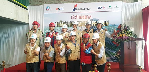 Tưng bừng lễ Cất nóc dự án Thăng Long Capital Premium tháng 07/2019 - 2