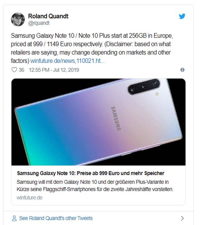 """Ngất lịm với mức giá quá """"ngọt"""" của Galaxy Note 10 - 2"""