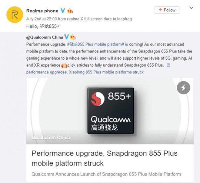 Realme sẵn sàng ra mắt siêu phẩm xài chip Snapdragon 855 Plus - 1