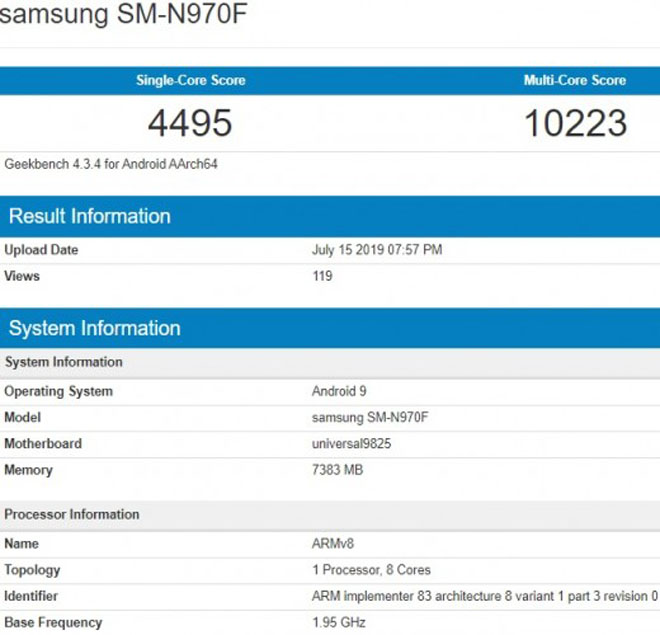 """Galaxy Note 10 nhá hàng với điểm chuẩn khủng: iPhone Xs Max giờ chỉ là """"muỗi"""" - 1"""