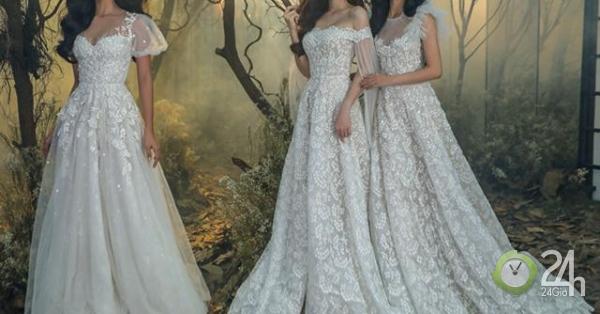 Tiểu Vy, Phương Nga, Thúy An mặc váy cưới lộng lẫy cảm hứng từ thiên nhiên