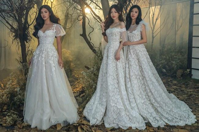 Tiểu Vy đẹp tựa nữ thần với váy cưới corset cúp ngực - 2