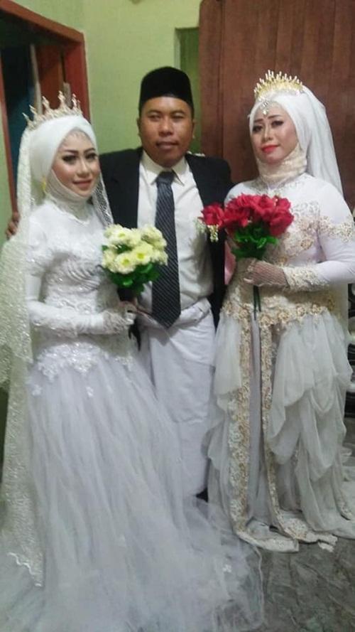 Đám cưới gây sốc khi có một chú rể, hai cô dâu - 2
