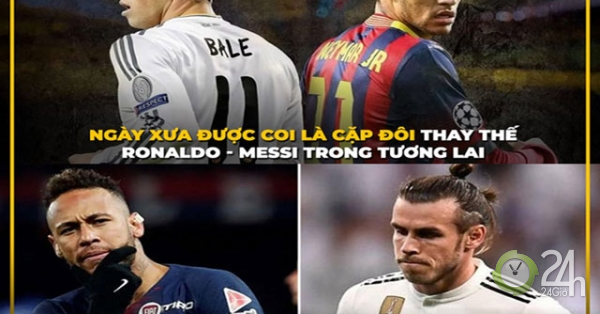 Ảnh chế Neymar và Gareth Bale - hai con người, một số phận