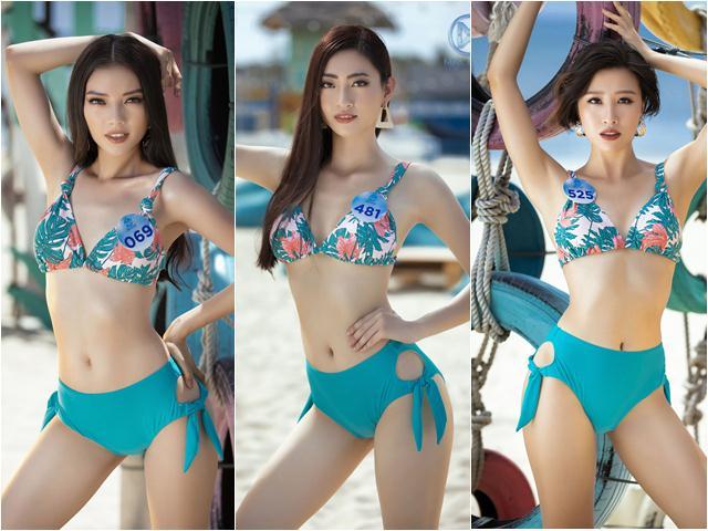 Nắng gần 40 độ, thí sinh Miss World Việt Nam diện đồ bơi nhiệt đới