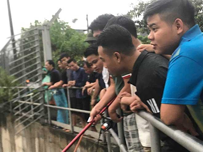 Người dân Hà Nội buông cần, giăng lưới bắt cá sau bão số 3 - 3