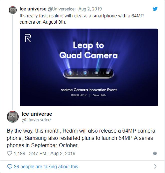 """Chiếc Galaxy A có camera """"khủng"""" 64MP sắp xuất hiện - 1"""