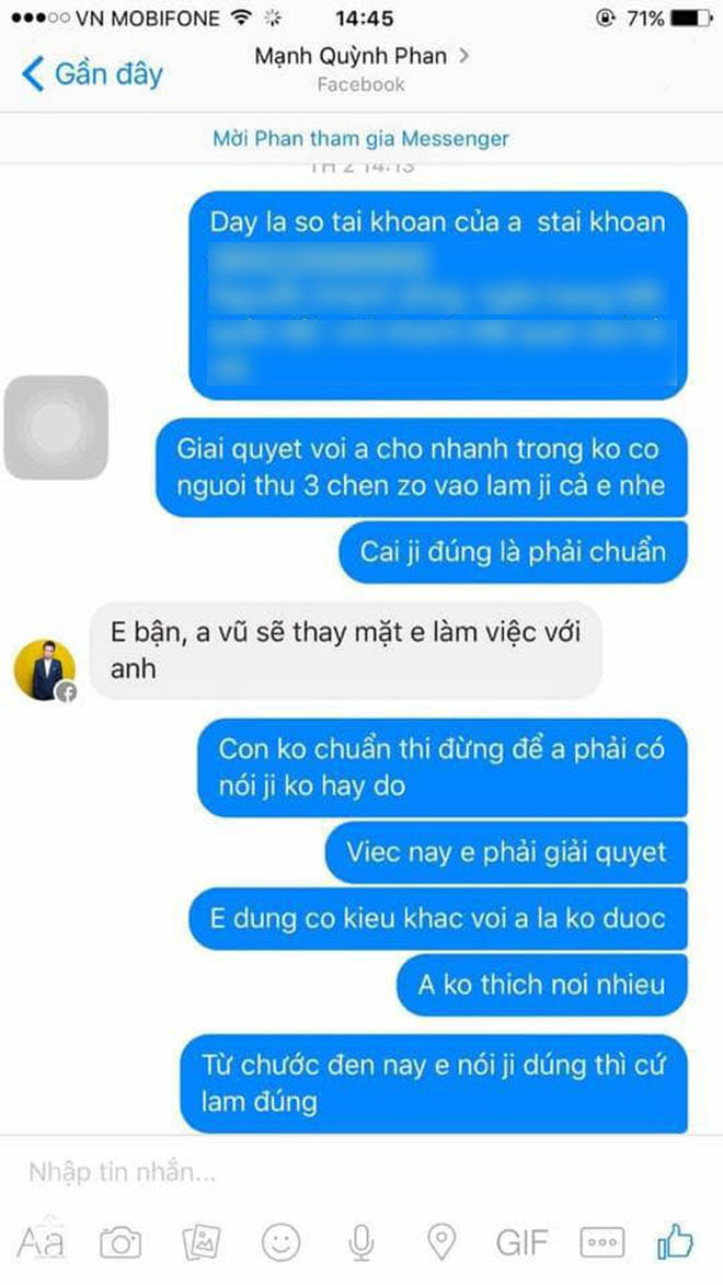 Phan Mạnh Quỳnh nói gì khi bị tố quỵt tiền, vô ơn? - 2