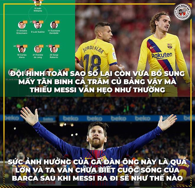 Barca thua sốc trận mở màn, anti fan được dịp hả hê chế ảnh - 2