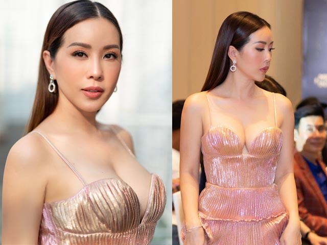 Hoa hậu Thu Hoài khoe vòng 1 táo bạo bên dàn mỹ nam 6 múi