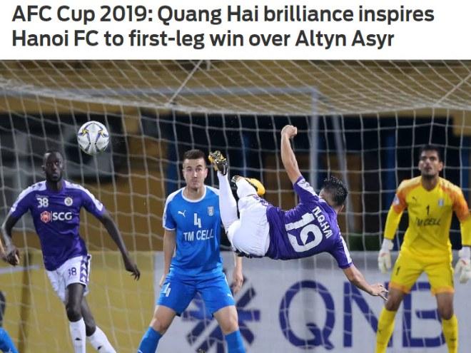 Hà Nội FC thắng nghẹt thở Á quân cúp châu Á: Báo chí ngả mũ người hùng Quang Hải - 1