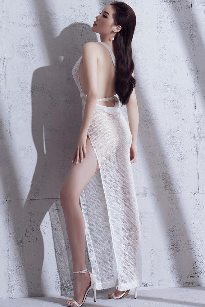 Kỳ Duyên chứng minh mình là hoa hậu mặc bốc lửa nhất với váy cúp khoe nửa vòng 1 - 5