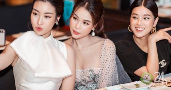 Sam diện váy mỏng tanh, rủ rê Đỗ Mỹ Linh, Hoàng Yến Chibi ăn tối - Ngôi sao