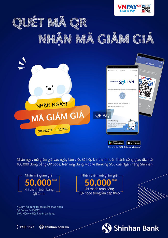 Quét mã QR, nhận ngay đến 100k trên Mobile Banking ngân hàng Shinhan - 1